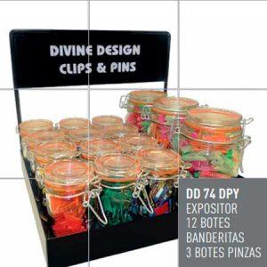 Expositor clips y pins