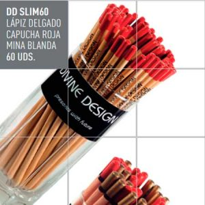 Lapices Divine Design mina blanda lapiz slim. Lápiz delgado capucha roja