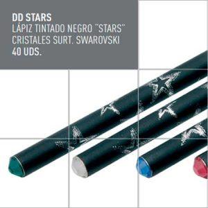 Lápiz tintado negro DD STARS
